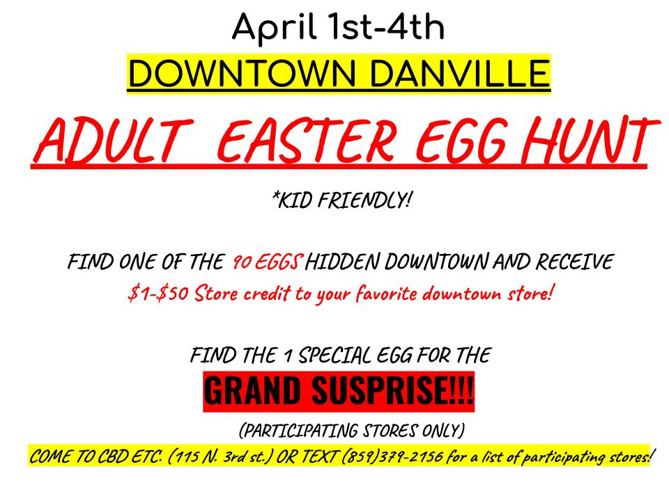 ADULT EASTER EGG HUNT 4/1/2021 – 4/4/2021