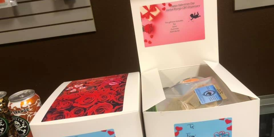 valentines holiday cbd gift box