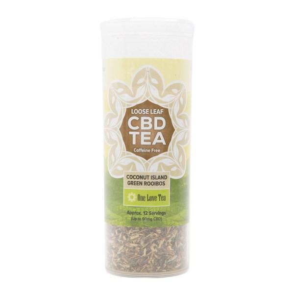 cbd tea coconut island green rooibos