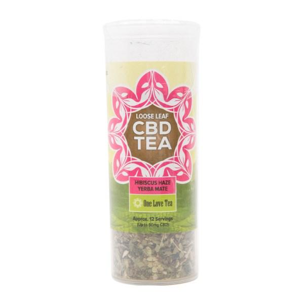 cbd tea hibiscus haze yerba mate