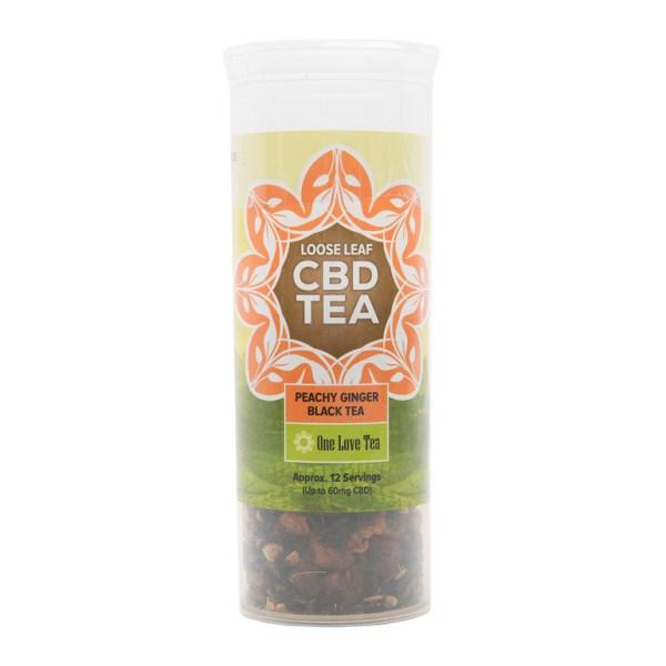 cbd tea peachy ginger black tea