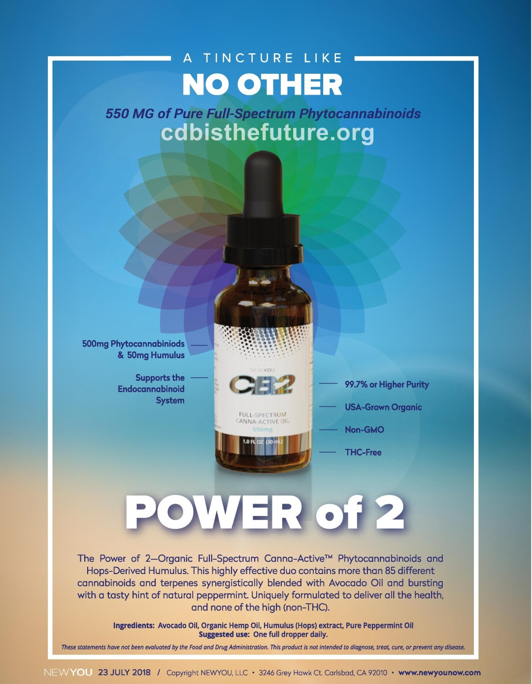 NEWYOU CB2 FULL SPECTRUM OIL