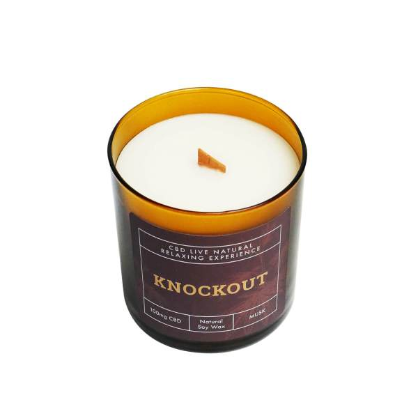 knockout musk candle top view