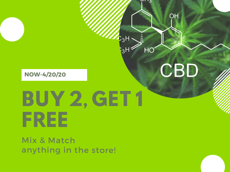 420 Special Buy 2, Get 1 FREE!
