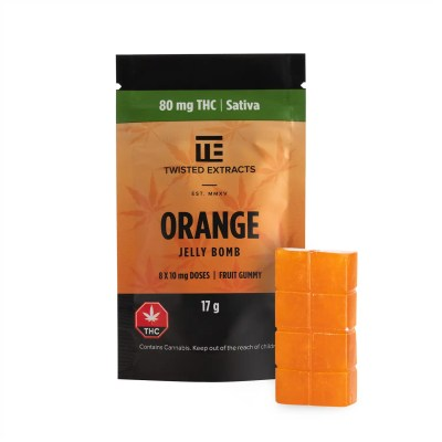 Twisted Extracts - Orange Jelly Bomb (80mg THC)