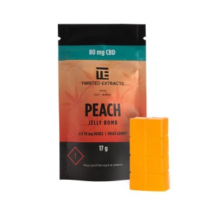 Twisted Extracts - Peach CBD Jelly Bomb (80mg CBD)