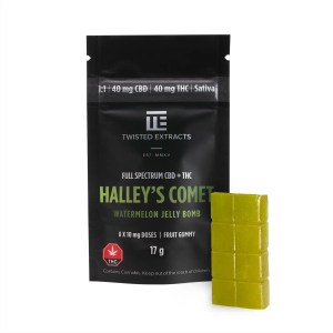 Twisted Extracts - Watermelon Halley's Comet Jelly Bomb (40mg THC + 40mg CBD)