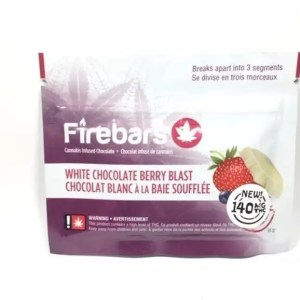 Fire Bars- White Chocolate Berry Blast (140 MG THC)