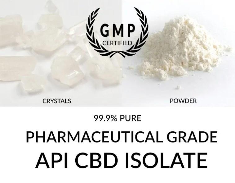 API CBD Isolate 99.9% Pure Pharmaceutical Grade CBD Cannabidiol