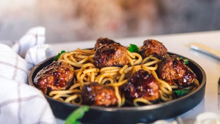 Dr. igor's chickpea miso bison meatballs with hemp hearts & sesame seeds recipe