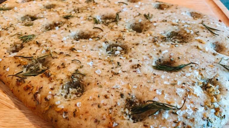 Dr. Igor's Garlicky Half Buckwheat Focaccia with Hemp Oil Recipe