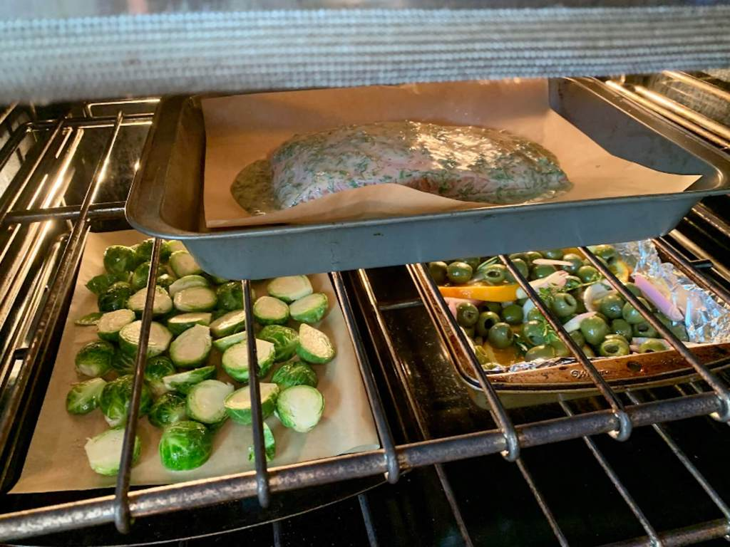 Easy Baked Salmon with Roasted Castelvetrano Olives