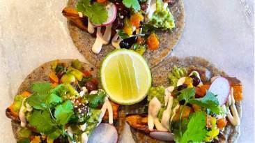 Dr. Igor's Vegan Sweet Potato & Hemp Heart Tacos Recipe