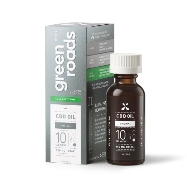Green Roads 300mg 10mg/ml 30ml CBD Oil Full Spectrum