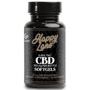 Happy Lane CBD Softgel Capsules 30ct 25mg