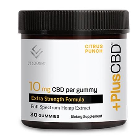 PlusCBD Extra Strength Gummies – 10mg Citrus Punch 30ct