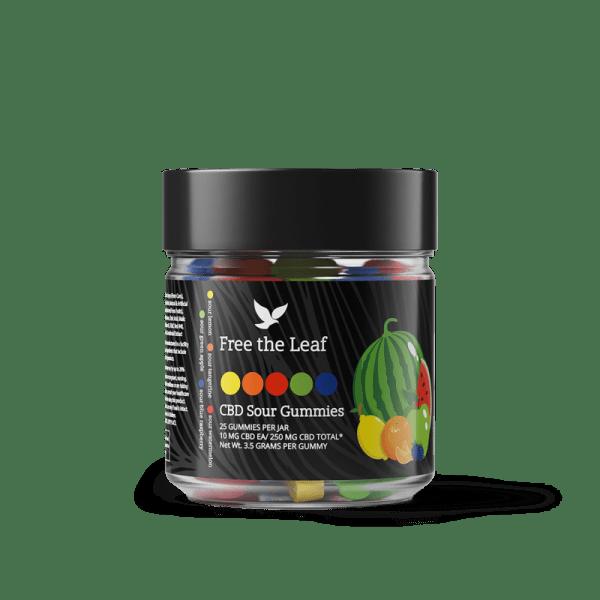 Free The Leaf CBD Sour Gummies 25ct 10mg