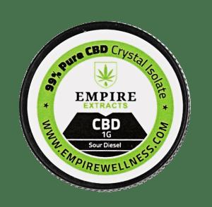 Terpenes Infused CBD Crystal Isolate (Empire Wellness). Choose between 19 different cannabis terpenes.