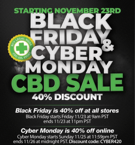 Black Friday CBD Deals: 40% discount on Butlegalsmeds products