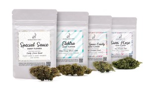 hemp flowers Tasters Menu