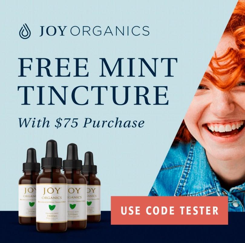 Joy organics free CBD tincture