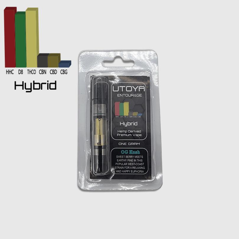 Hybrid entourage vape cartridges