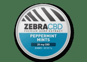 zebra cbd peppermint mints