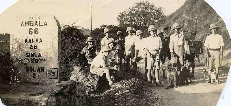 Hiking in Simla, 1933