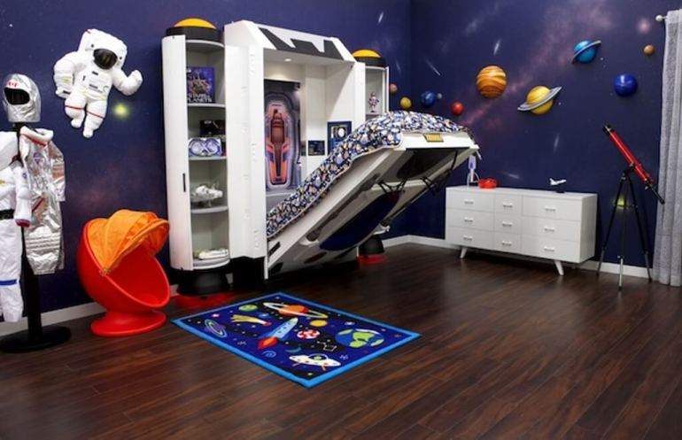 space themed bedroom designs