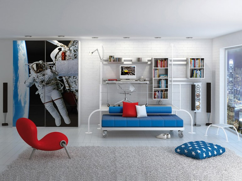 space themed baby room