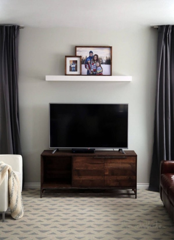 diy built an entertainment center