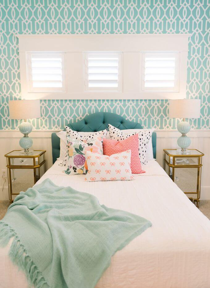 Turquoise Bedroom Ideas With Light Up