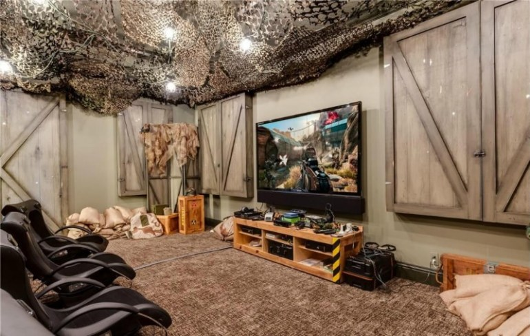 17 most popular video game room ideas feel the awesome game play home cbf. Black Bedroom Furniture Sets. Home Design Ideas