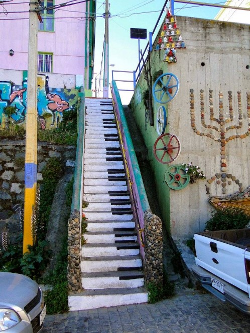 Piano-Inspired Staircase