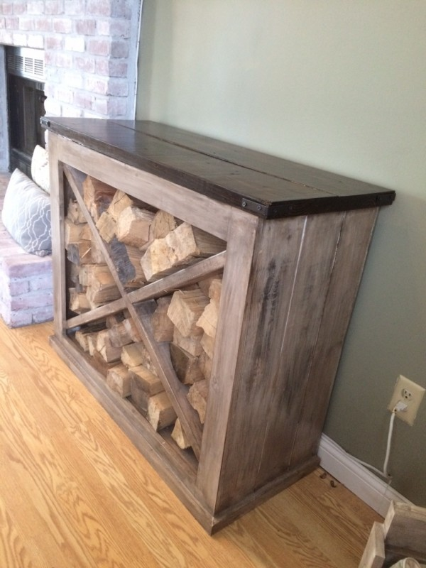 Modern Indoor Firewood Storage