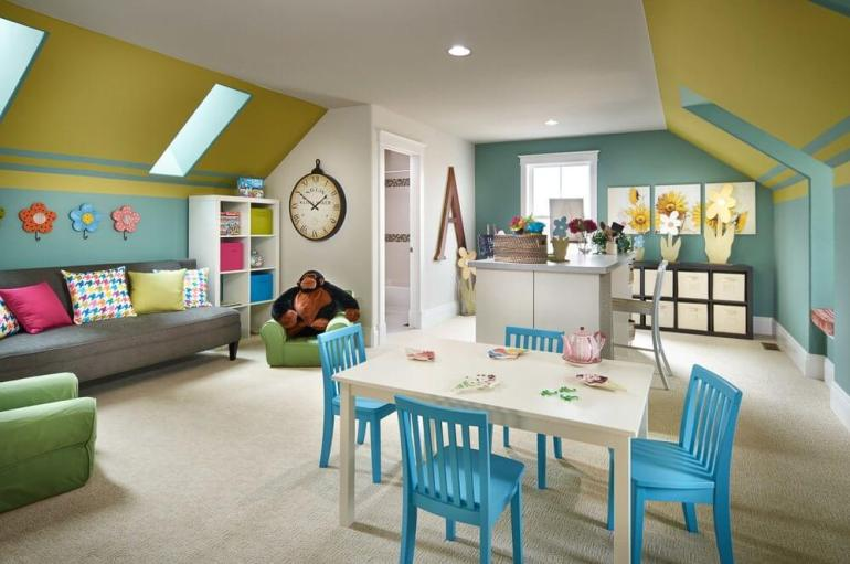 Craft Room For Kids as Bonus Room