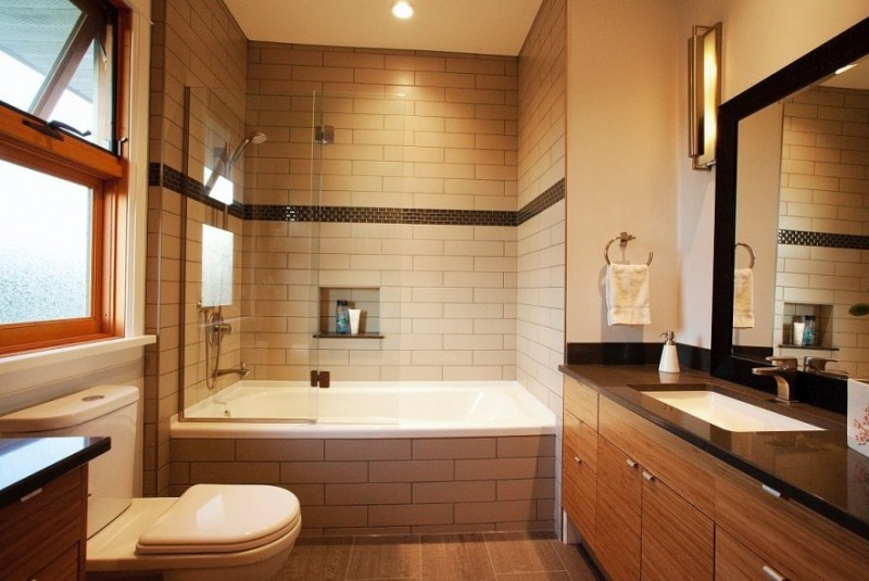 21 unique bathtub shower combo ideas for modern homes for Garden bathtub shower combo