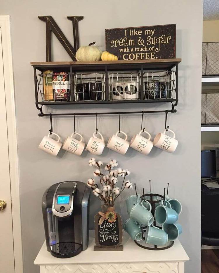 coffee station ideas for kitchen