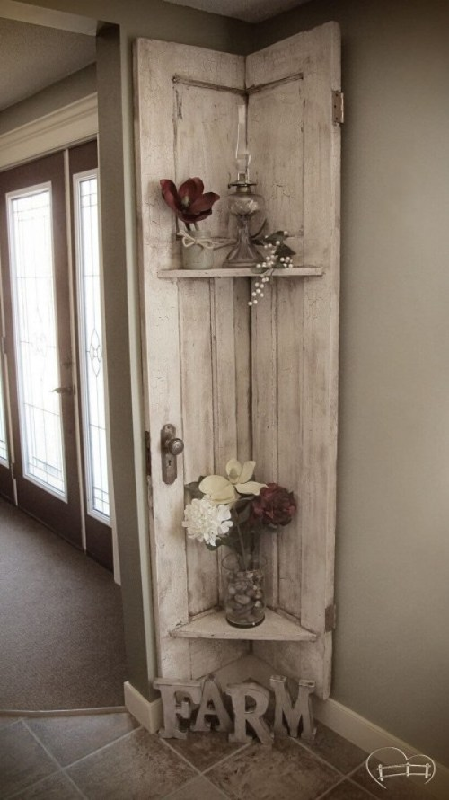 DIY Shelving Thick Wooden Boards to The Wall