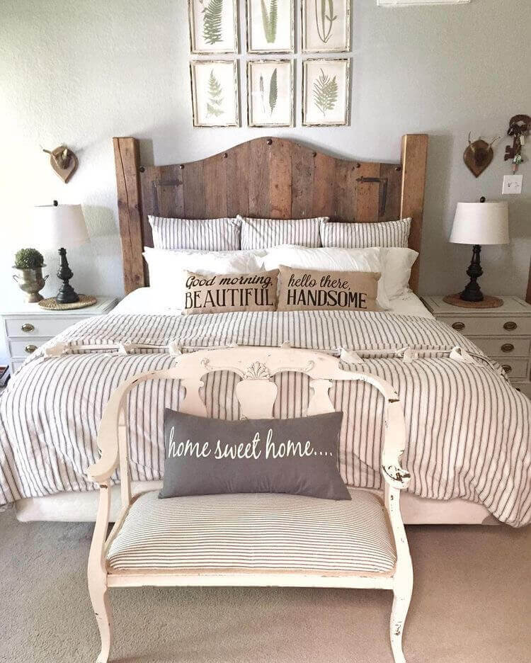 35 Creative Ways To Decorate Rustic Farmhouse Bedroom