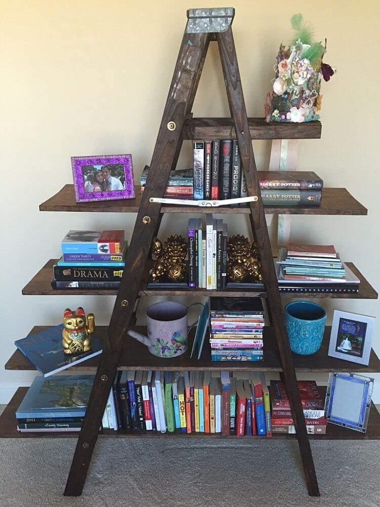 diy bookshelf bed frame