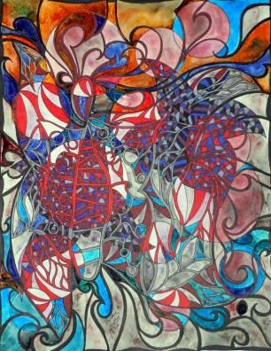 Secret Flutterby - Neither Hidden Nor Quite Clear - Wandering Through the Webs, 11x14 [3-2011]
