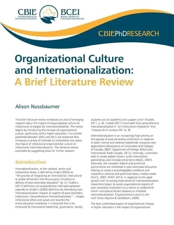 Organizational Culture and Internationalization