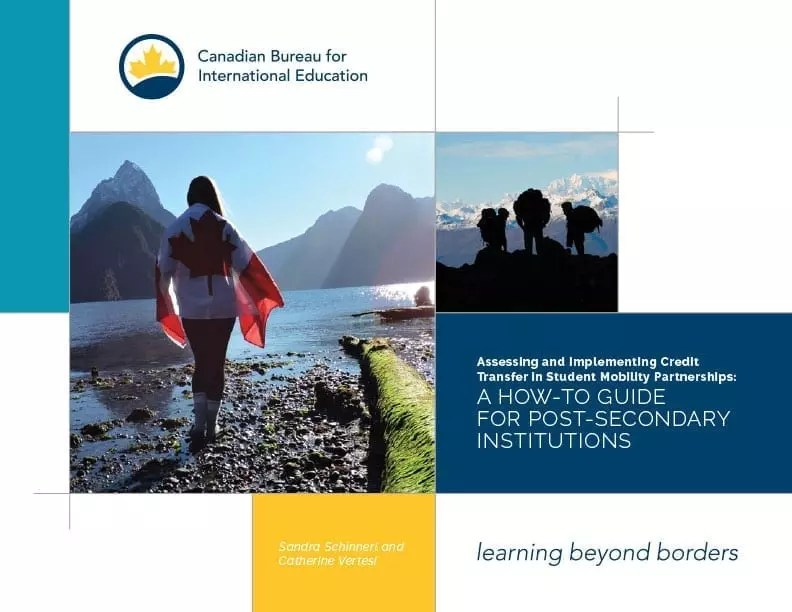 Assessing and Implementing Credit Transfer in Student Mobility Partnerships: A how-to guide for post-secondary institutions