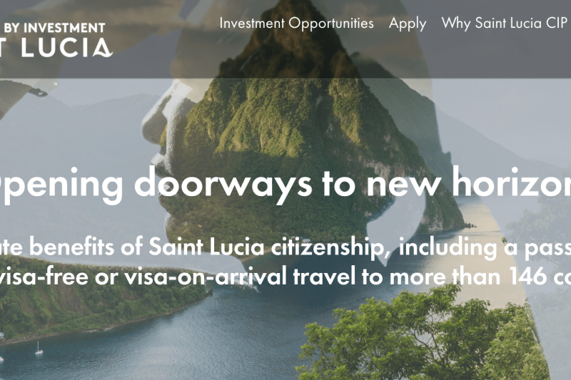 saint lucia cbi programme website new