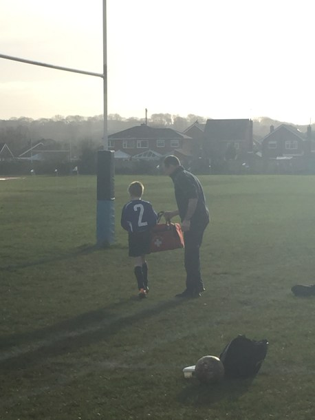 playing for the school team