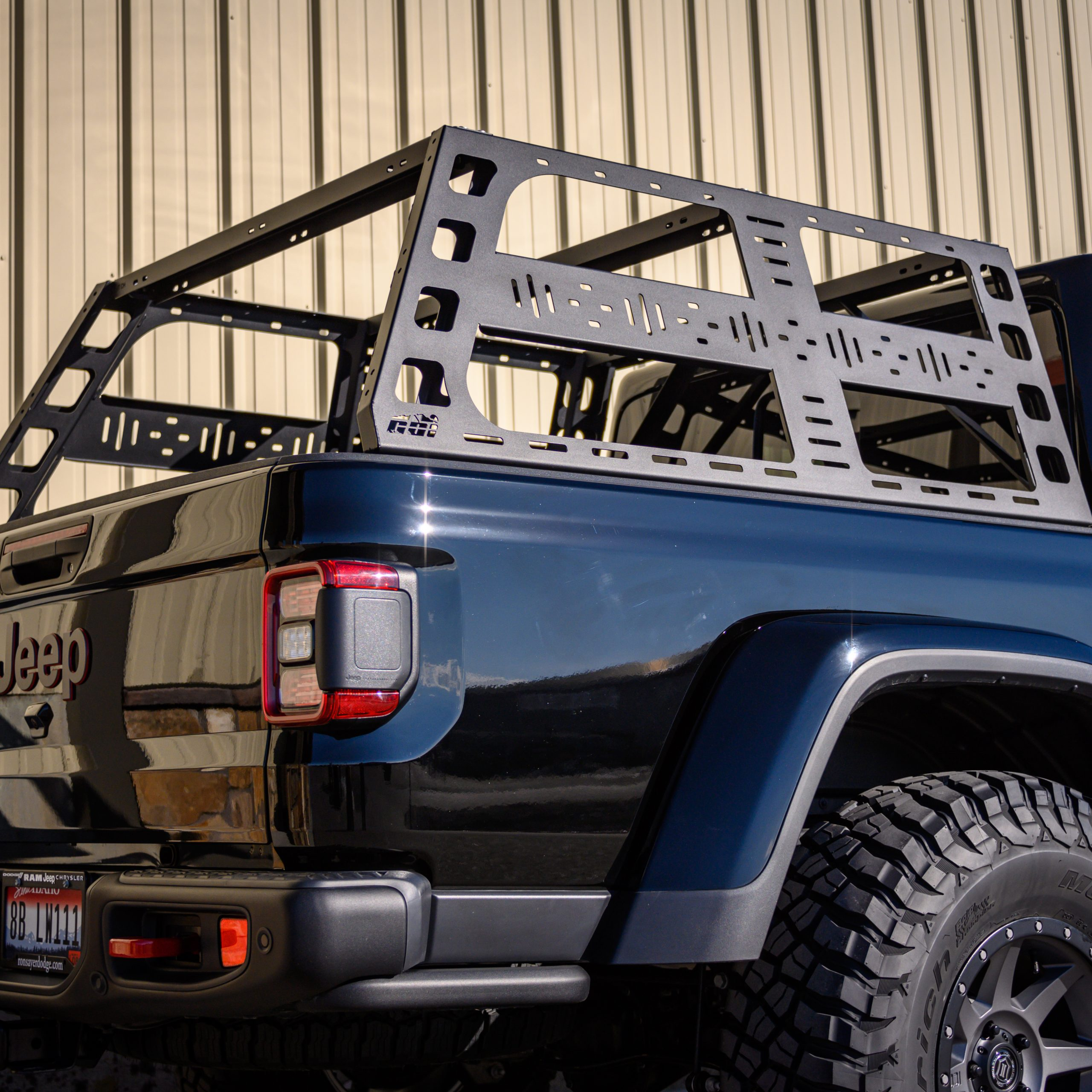 jeep gladiator jt cab height bed rack