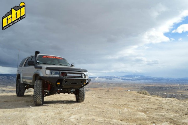 T4R3 Hybrid Front Winch Bumper for 3rd Generation Toyoat 4Runner by CBI Offroad Fab