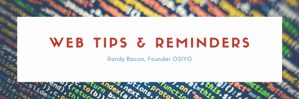 Web Tips & Reminders For Small Business Owners