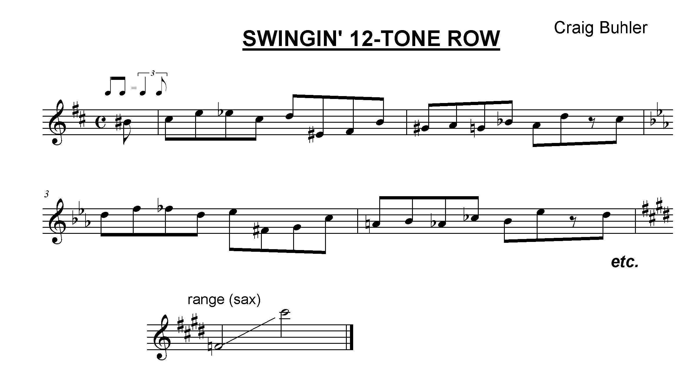SWINGIN 12 TONE ROW